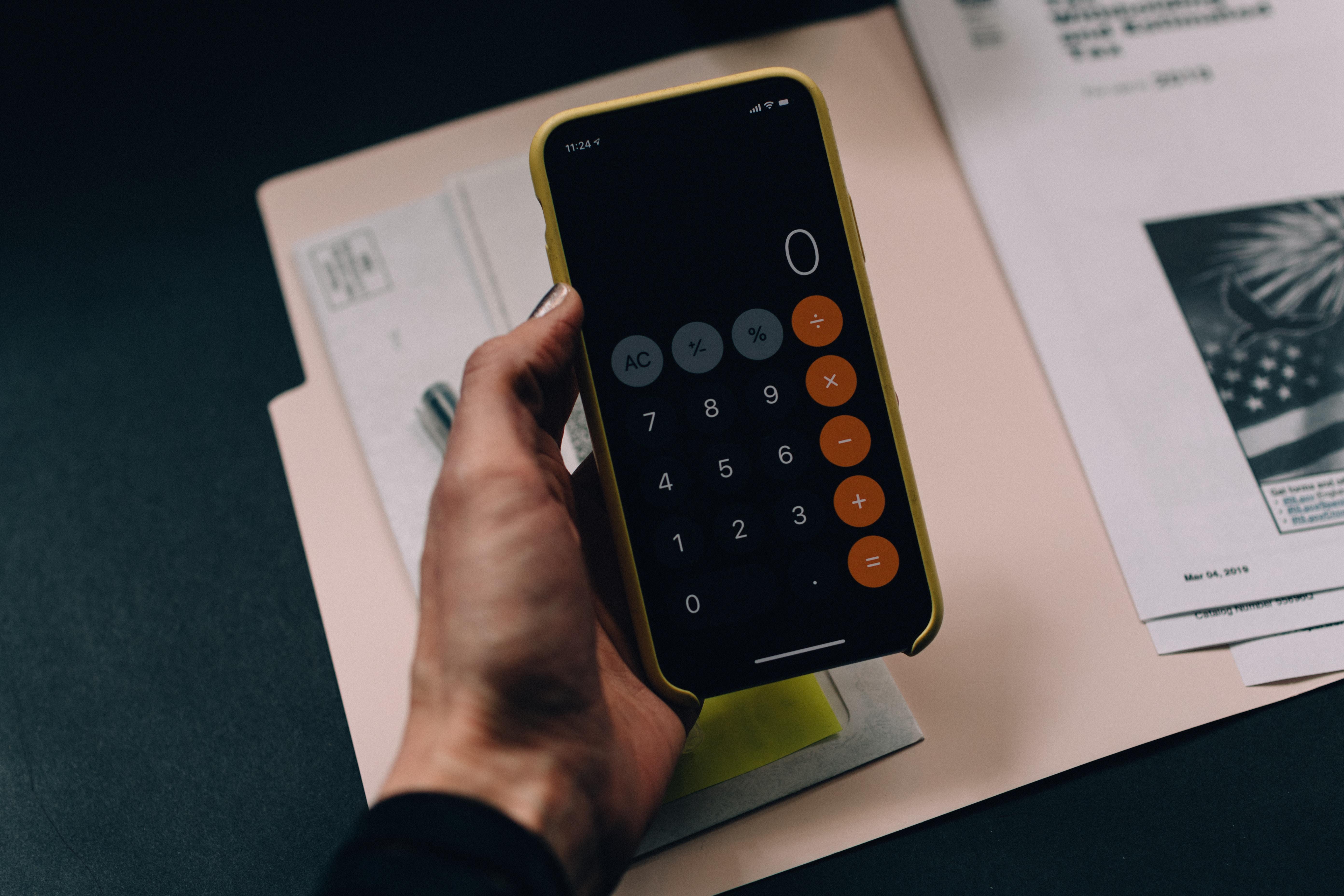 miniräknare i telefonen
