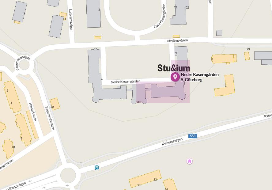 Karta över Studium Kviberg