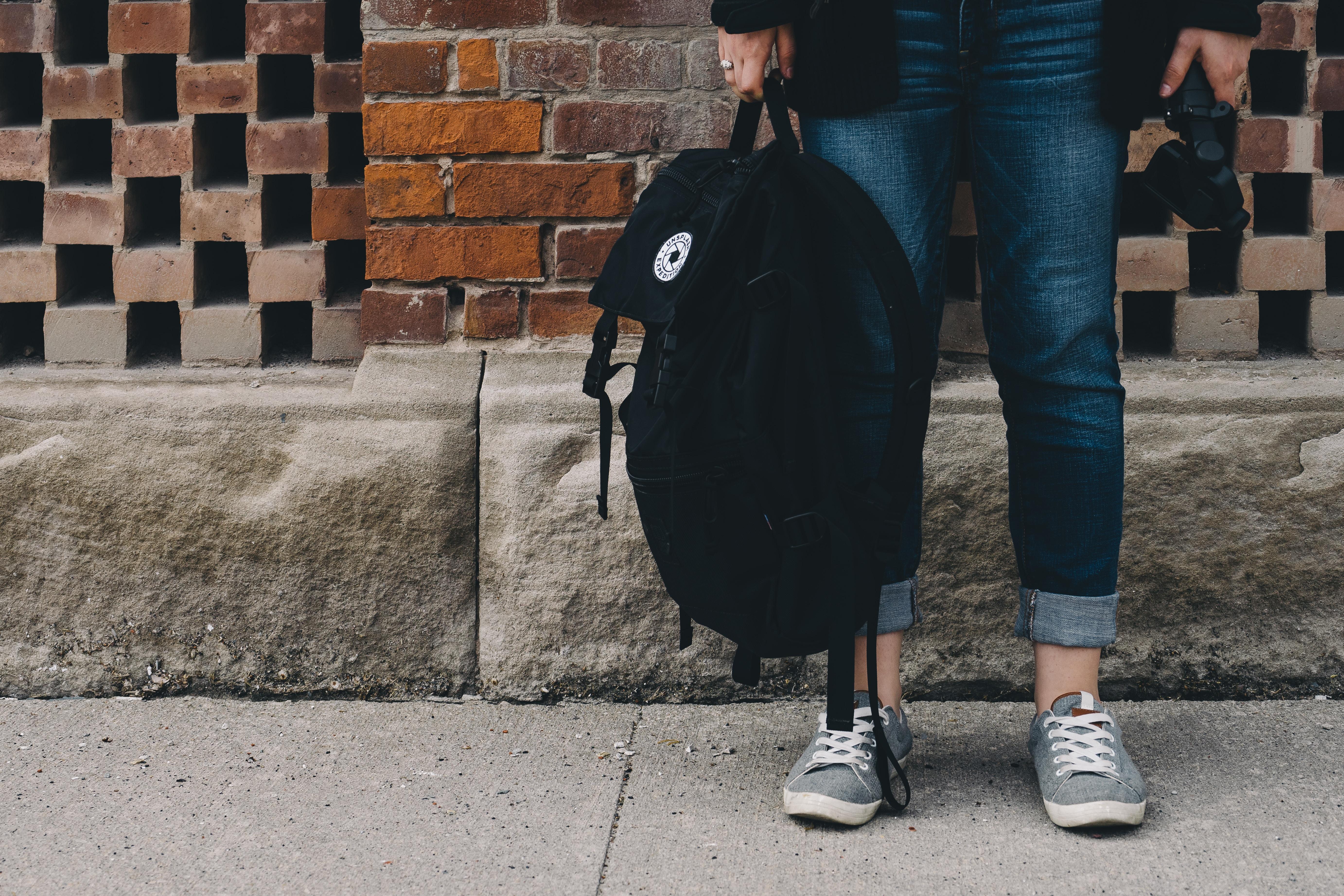 Person med väska