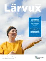 Första sidan på Lärvux kurskatalog